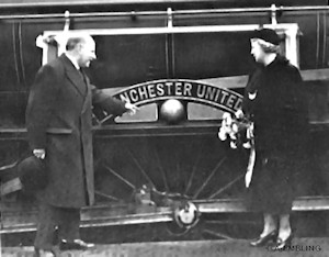 James W. Gibson & his wife, Lillian, inspect the newly named