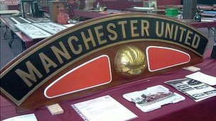Manchester United engine nameplate fetches £40,000 at auction